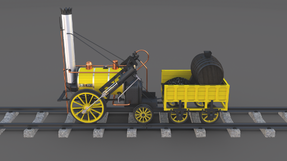 3DOcean The Stephenson Rocket Locomotive 21027795