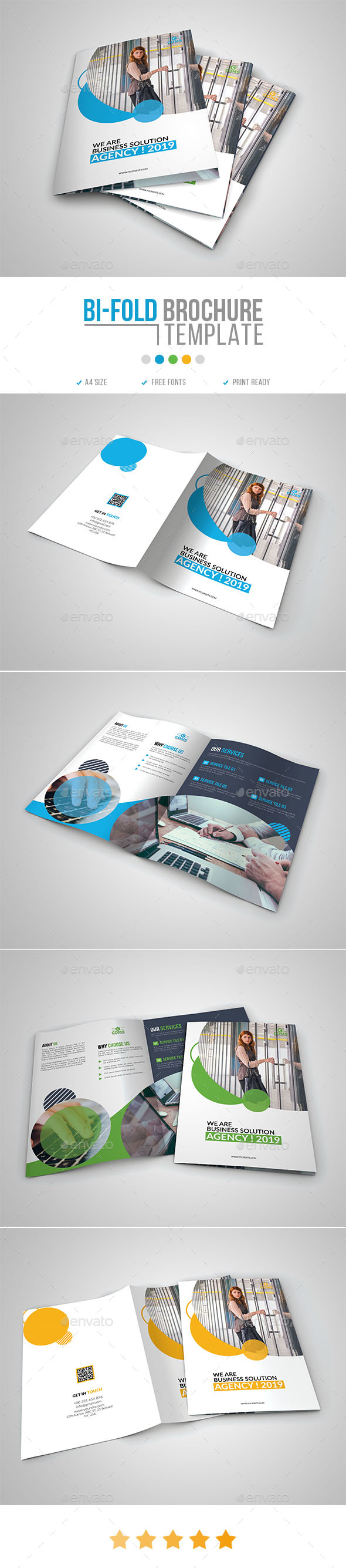 Corporate Bi-Fold Brochure Template 12 - Corporate Brochures