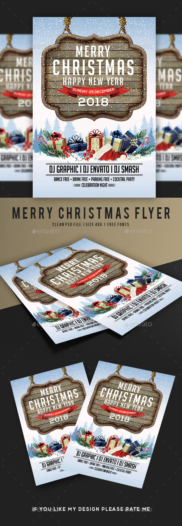 GraphicRiver Merry Christmas Flyer 21027804