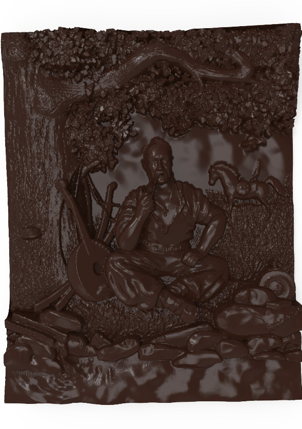 Cossack Mamay Bas relief - 3DOcean Item for Sale