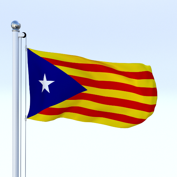 Animated Catalonia Flag - 3DOcean Item for Sale