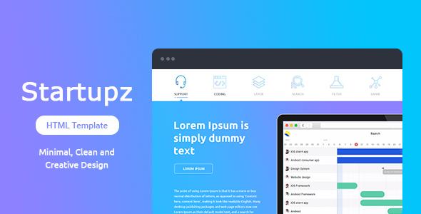 Startupz - App/SAAS Landing Page Template