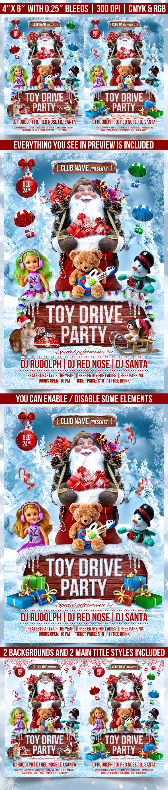 Toy Drive Party Flyer Template - Events Flyers