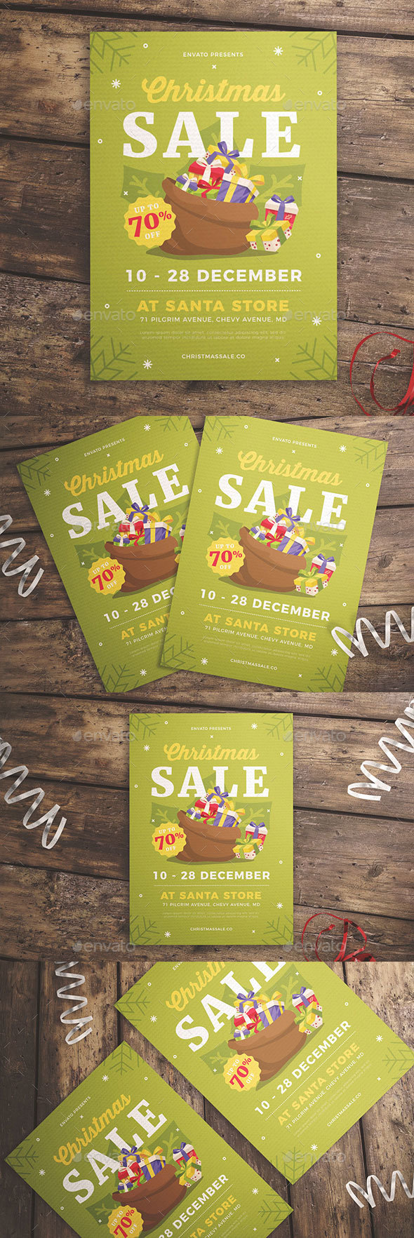 GraphicRiver Christmas Gift Sale Flyer 21027979