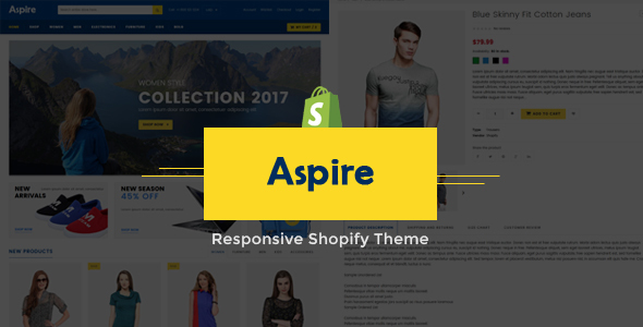 Image of Aspire Electronic Store Shopify Theme & Template