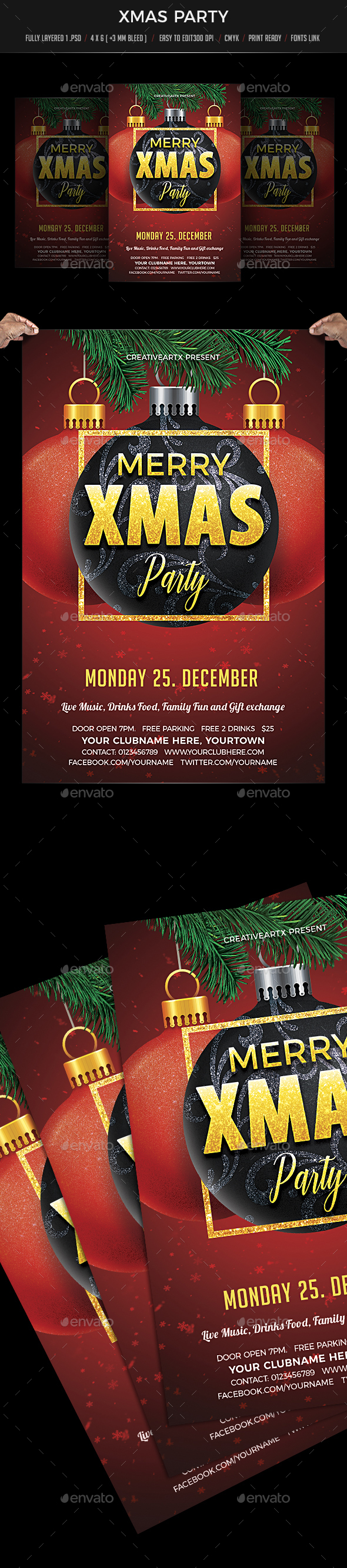 Xmas Party - Events Flyers