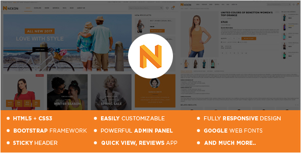 Nexon Apparel Store Shopify Theme & Template