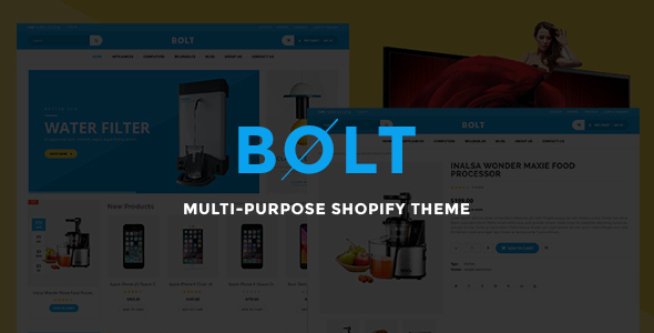 Image of Bolt Mobile Store Shopify Theme & Template