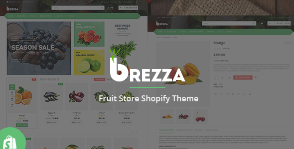 Image of Brezza Fruit Store Shopify Theme & Template