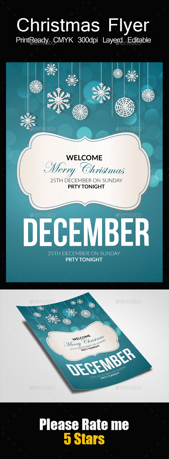 Charistmas Greeting Flyer - Events Flyers