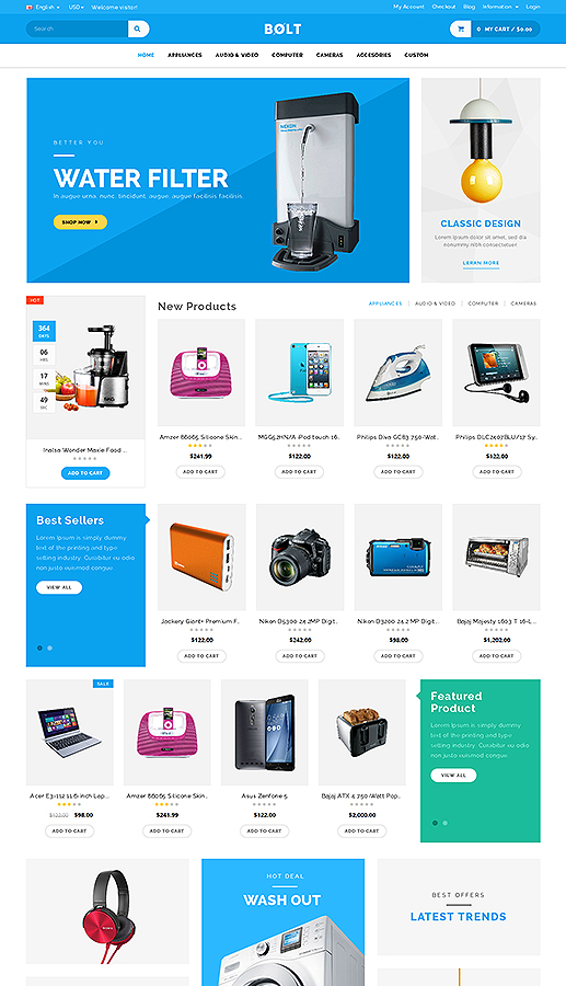Bolt Mobile Store Responsive Opencart Theme By