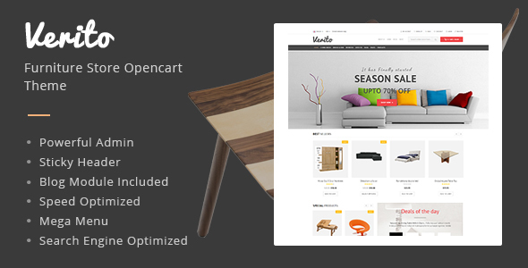 Verito - Furniture Store Responsive OpenCart Theme