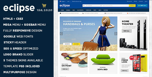 Eclipse - Digital Store Responsive OpenCart Theme - Shopping OpenCart