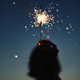 Anonymous person with burning firework - PhotoDune Item for Sale
