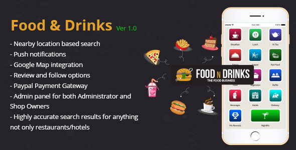CodeCanyon Nearby Hotels Restaurants Finder Apps Food and Drinks 21028362