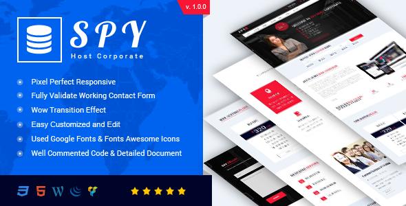 SPY - Web Hosting HTML5 Template - Business Corporate