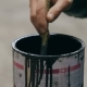 Painter Stirring a Paint in a Jar on the Street - VideoHive Item for Sale
