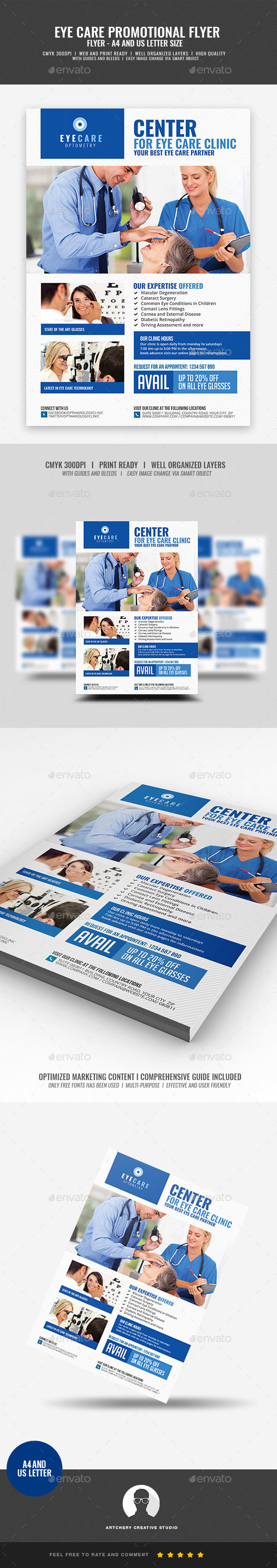 Optometrist Eye Care Services - Corporate Flyers