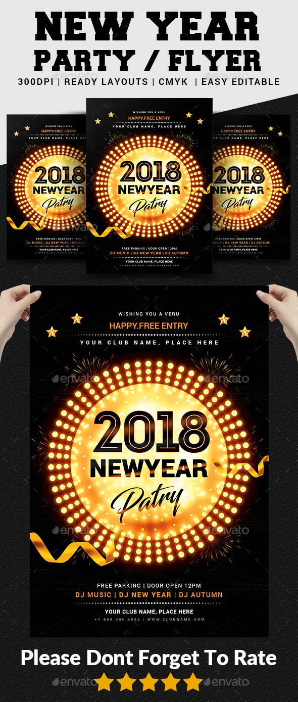 GraphicRiver New Year Party Flyer 21028777