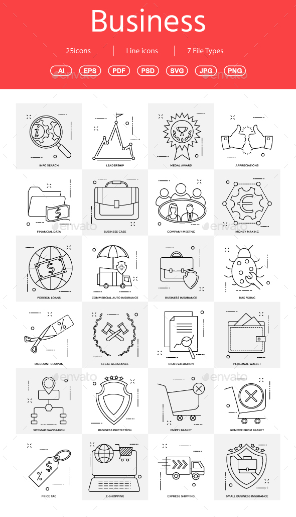 15+ Vector Business Illustration vol 15 - Business Icons