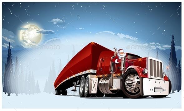 Vector Christmas Card - Christmas Seasons/Holidays