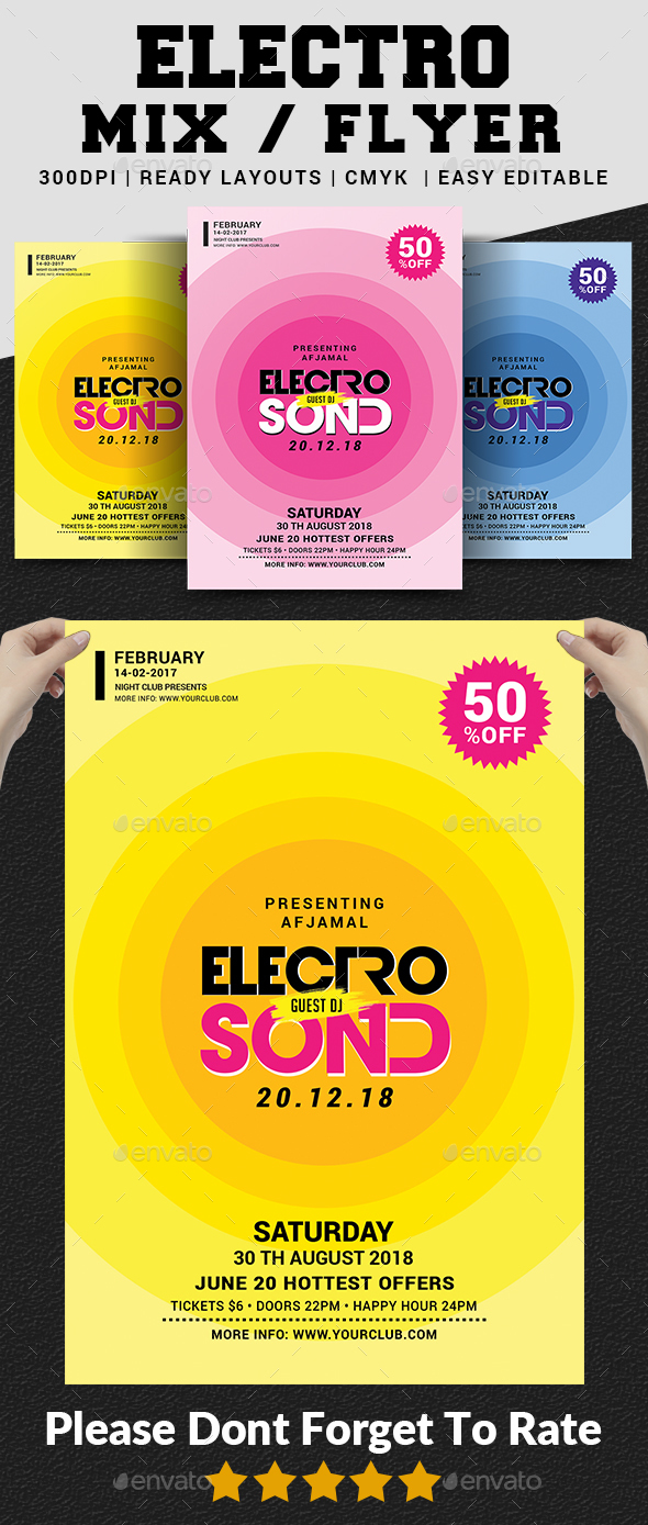 Electro Mix Flyer - Clubs & Parties Events