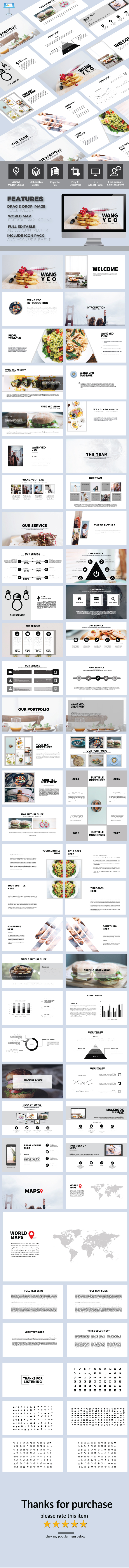 Wang Yeo - Keynote Powerpoint Template - Keynote Templates Presentation Templates