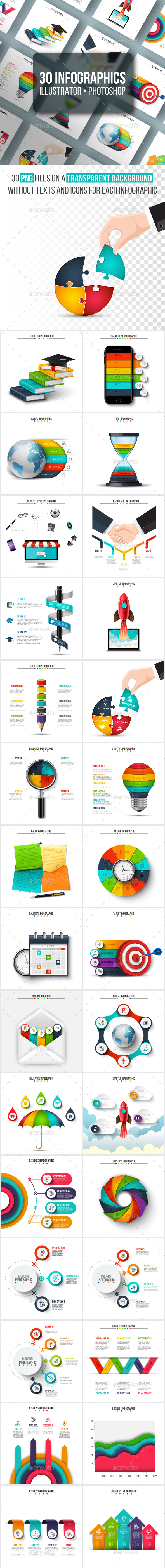 GraphicRiver Unique infographics pack 21029138