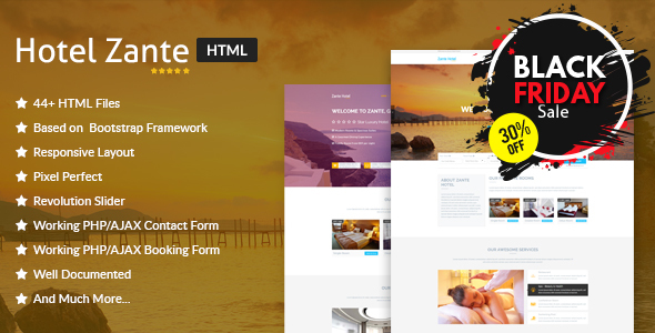 Hotel Zante - Hotel & Resort HTML Template - Travel Retail