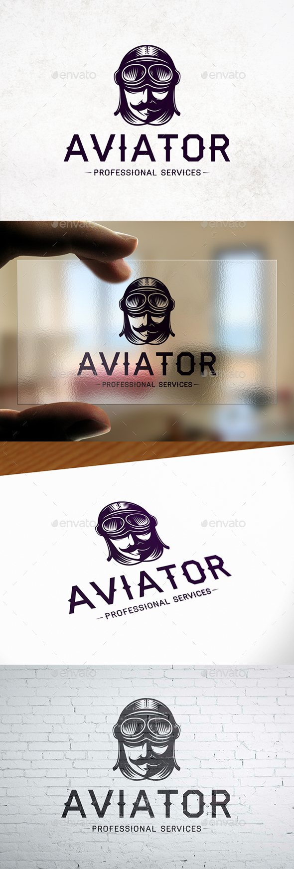Aviator Head Logo Template - Humans Logo Templates
