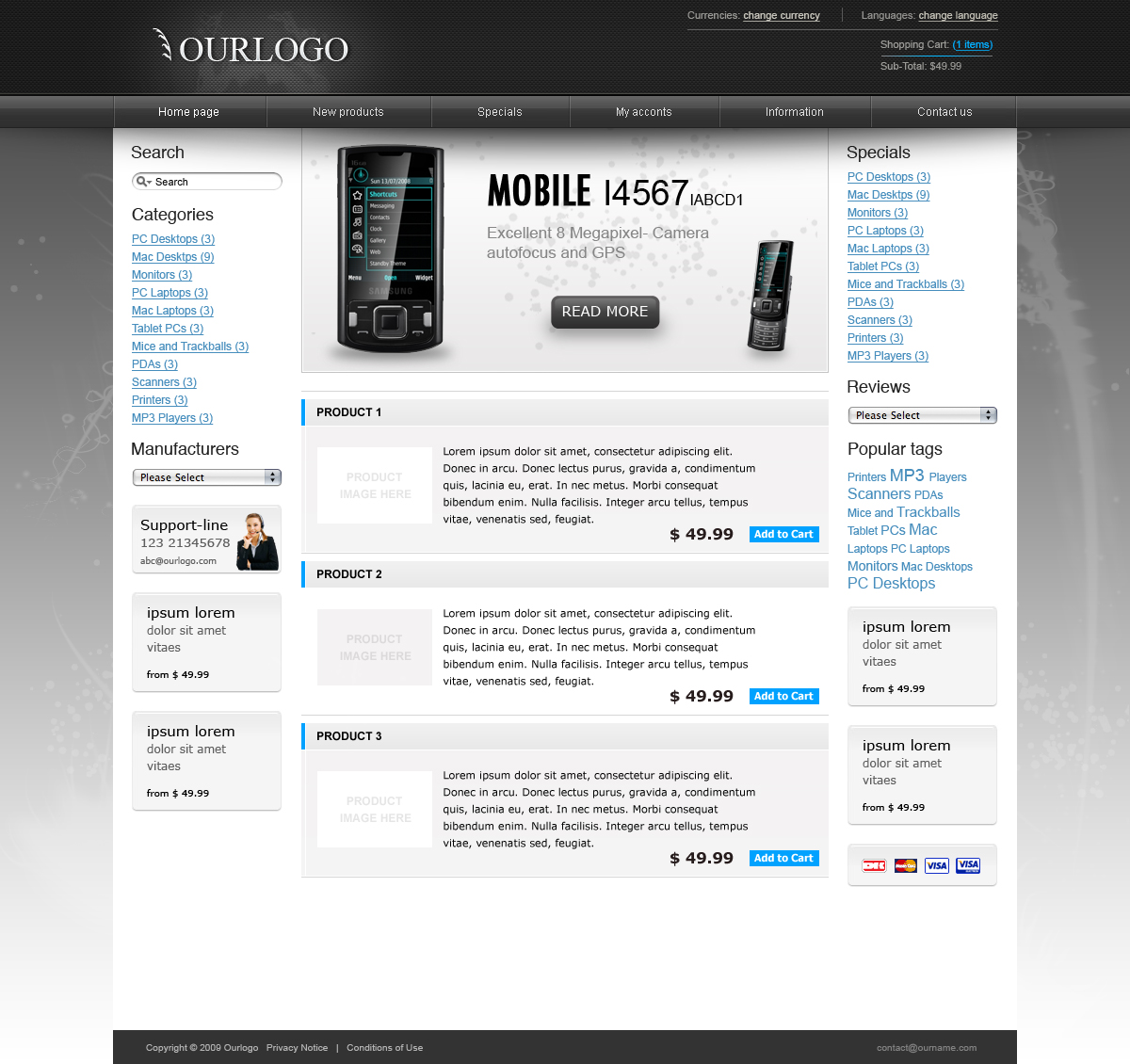 Free Download Modern E-commerce web-shop theme - 3 colors Nulled Latest Version