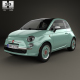 Fiat 500 C San Remo 2014 - 3DOcean Item for Sale