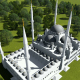 Top View of the White Mosque - VideoHive Item for Sale