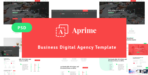 Aprime - Creative Digital Agency Template - Corporate PSD Templates