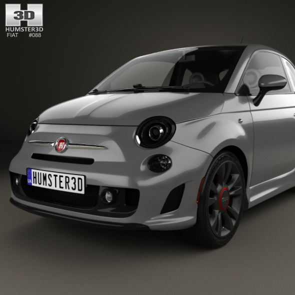 fiat 500 turbo 2014 by humster3d 3docean. Black Bedroom Furniture Sets. Home Design Ideas