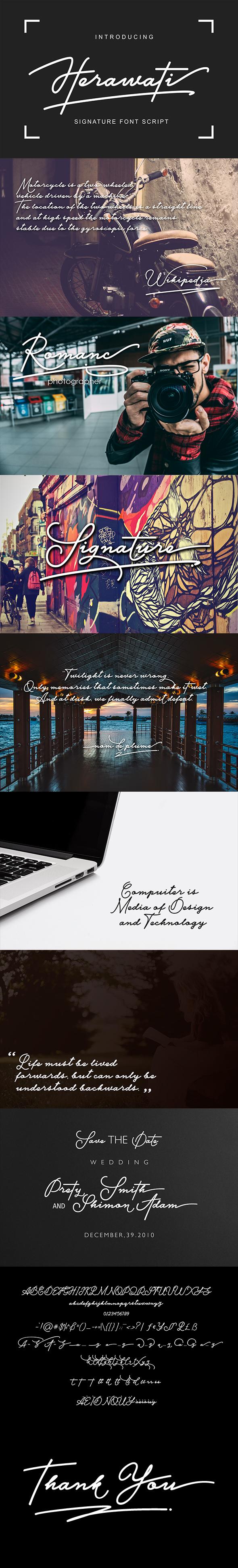 GraphicRiver Herawati Signature Script Font 21029678