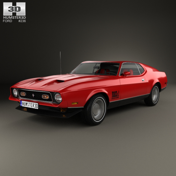 Ford Mustang Mach 1 1971 James Bond - 3DOcean Item for Sale