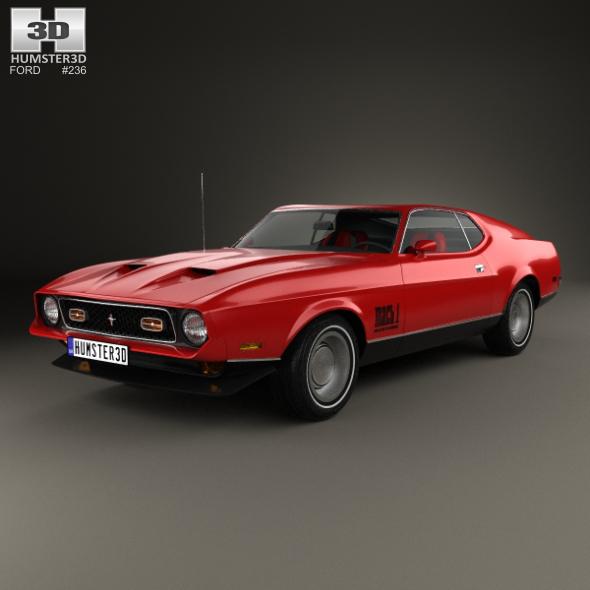 3DOcean Ford Mustang Mach 1 1971 James Bond 21029693