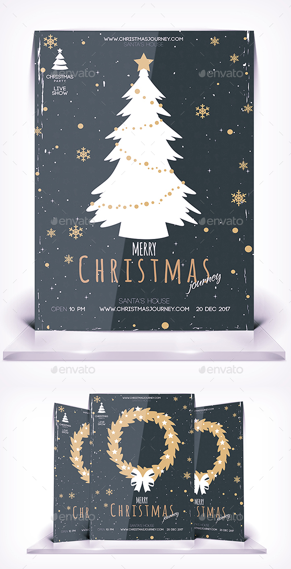 GraphicRiver Christmas Journey Flyer Vol 3 21029721
