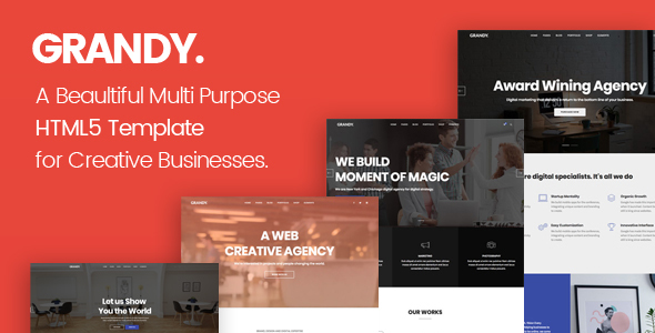 Grandy - Creative Multi Purpose Big HTML5 Template - Creative Site Templates
