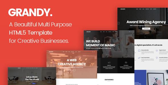Grandy - Creative Multi Purpose Big HTML5 Template