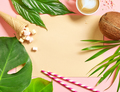 holiday background with tropical leaves - PhotoDune Item for Sale