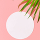 tropical leaves on pink background - PhotoDune Item for Sale