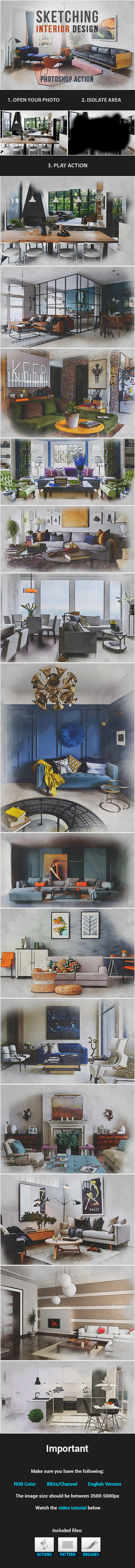 Sketching Interior Design - Photo Effects Actions