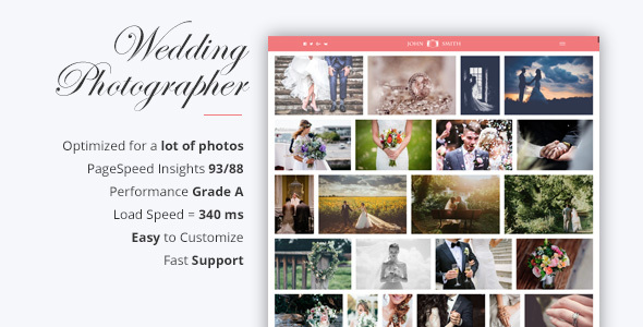 Max - Landing Page For Wedding Photographer - Photography Creative