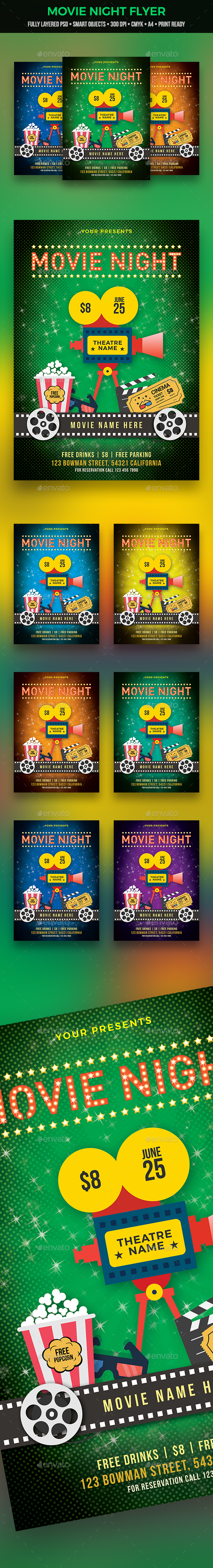 GraphicRiver Movie Night Flyer 21030011