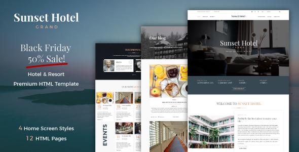 Sunset Hotel - Hotel & Resort Responsive HTML5 Template