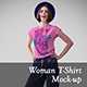 Woman T-shirt Mock-ups vol. 2 - GraphicRiver Item for Sale