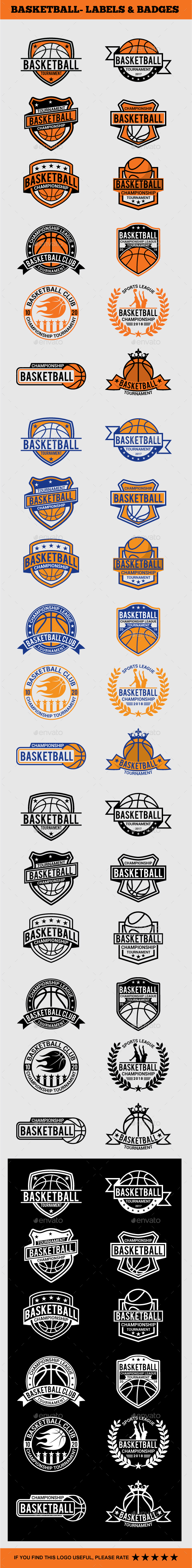 GraphicRiver Basketball Badges & Stickers Vol2 21030313