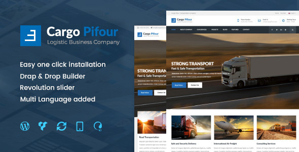 Image of Pifour - Logistic and Transportation WordPress Theme